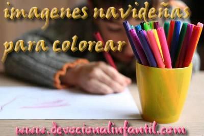 Imágenes Navideñas para colorear – Dibujos para Colorear