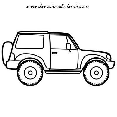 Dibujos de coches,camionetas,autobuses – Dibujos para Colorear