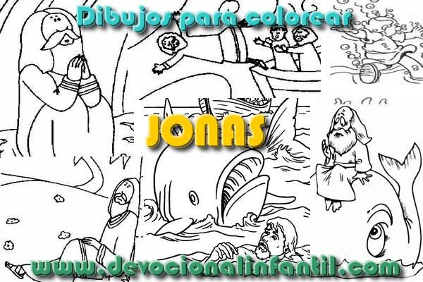 haz click en jons y la ballena dibujos para colorear para ver la ...