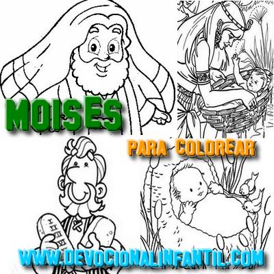 Moisés – Dibujos para Colorear | Devocional Infantil.com