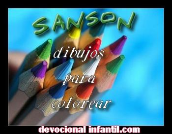 Sansón – Dibujos para Colorear