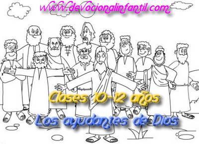 Los ayudantes de Dios-clases niños de 10 a 12-anos