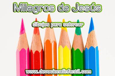 Milagros De Jesús Dibujos Para Colorear Devocional Infantilcom