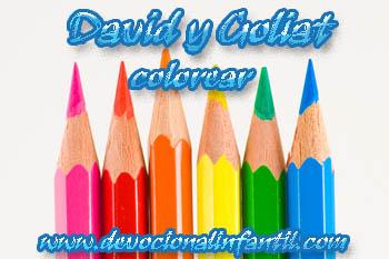 David Y Goliat Dibujos Para Colore Devocional Infantilcom