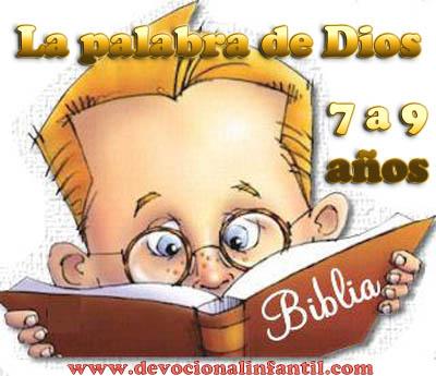 La palabra de Dios – Clases – Niños de 7 a 9 años