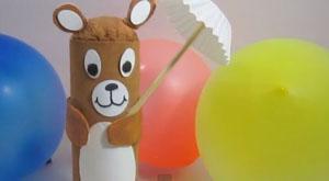 Cómo hacer un osito con un tubo de cartón reciclado – Manualidad