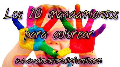 Los 10 Mandamientos – Dibujos para colorear