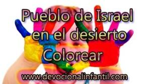 Pueblo de Israel en el desierto – Dibujos para colorear