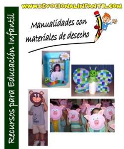 Libro de manualidades de productos reciclables – Utileria