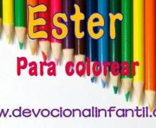 Ester – Dibujos para colorear